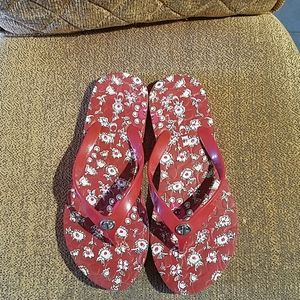 Coach Abbigail Floral Slip On Flip Flops Sandals